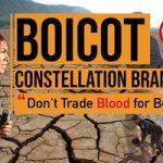 Militantes de Mexicali Resiste contra Constellation Brands: los activistas exigen DERECHOS al AGUA y LIBERTAD