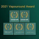La marca china de vapeo Geekvape obtiene cinco premios en los Vapouround Award 2021