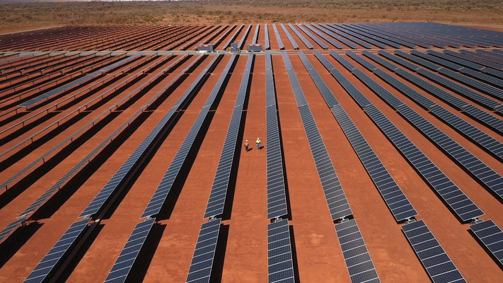 Solar panels at Gold Field's Granny Smith mine (Image Credit: Gold Fields)